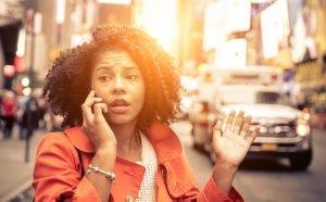 Woman calling 911